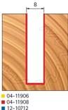 Stopková fréza na dřevo drážkovací FREUD 0411908 - profil frézování