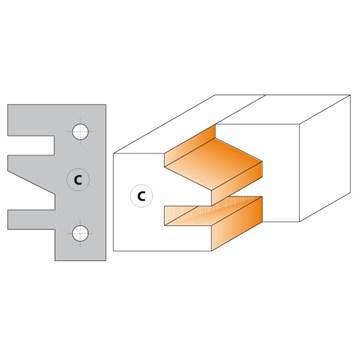 CMT Nůž pro C694014 - pár žiletek profil C 40x24,5x2mm
