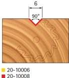 Stopková fréza na dřevo drážkovací V FREUD 2010008 - profil frézování