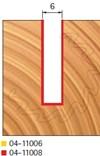Stopková fréza na dřevo drážkovací FREUD 0411008 - profil frézování