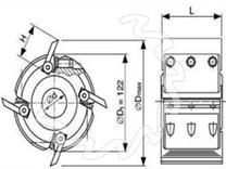 Profilová frézovací hlava KARNED 8341 122x40-40 - nákres