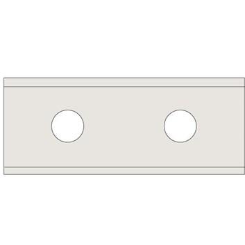 VBD - Žiletka tvrdokovová, dvoubřitá N011 Z2 - 50x12x1,5 UNI