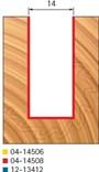 Stopková fréza na dřevo drážkovací FREUD 0414508 - profil frézování