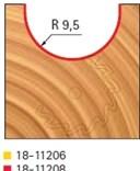Stopková fréza na dřevo rádiusová do plochy FREUD 18-11208 - profil frézování