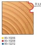 Stopková fréza na dřevo rádiusová půlkruhová FREUD 8010208 - frézovaný profil