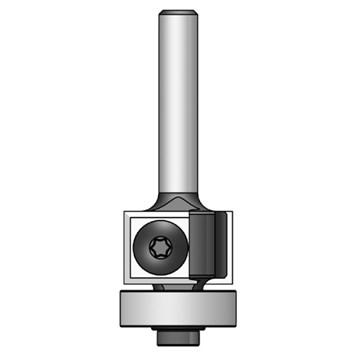 IGM F043 Ořezávací žiletková fréza s ložiskem - D19x12 L56 S=6,35 HM