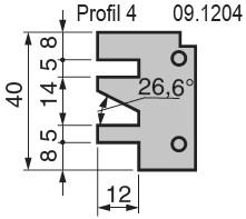 Výměnné břitové destičky pro frézu na nábytkové dveře KARNED 8152/S - Profil č. 4