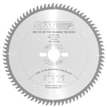 CMT Industrial C283 Pilový kotouč na lamino bez předřezu - D300x3,2 d30 Z96 HM