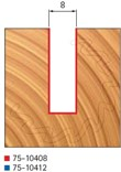 Stopková fréza na dřevo drážkovací FREUD 7510408 - profil frézování