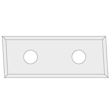 IGM N017 Žiletka tvrdokovová Z4 zkosená 3° - 48,3x9x1,5 UNI