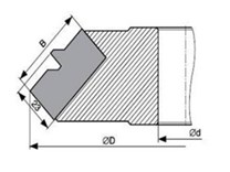 Fréza na rohový spoj s VBD KARNED 8351/B - nákres