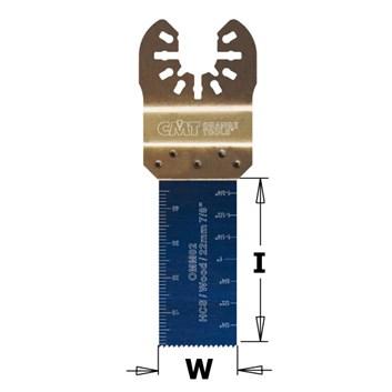 CMT Ponorný pilový list s tvrzeným zubem HCS, na dřevo - 22mm, sada 5 ks