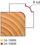Stopková fréza na dřevo rádiusová vydutá FREUD 3410808 - frézovaný profil