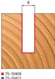 Stopková fréza na dřevo drážkovací FREUD 7610408 - profil frézování