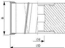 Fréza na dřevo falcovací KARNED 3555 100x30-51 - nákres