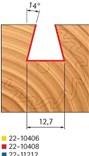 Stopková fréza na dřevo rybinová FREUD 2210408 - profil frézování