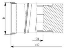 Fréza na dřevo falcovací KARNED 3551 125x30-51 - nákres