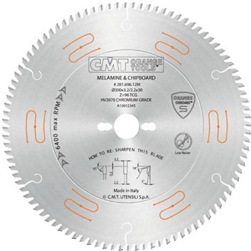CMT CHROME Pilový kotouč na lamino, DTD a MDF - D350x3,5 d30 Z108 HM