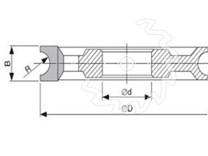 SK fréza na dřevo rádiusová KARNED 5016 půlkruhová vydutá - nákres