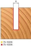 Stopková fréza na dřevo drážkovací FREUD 7510208 - profil frézování