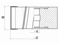 Fréza na dřevo falcovací KARNED 3520 125x30-50 - nákres