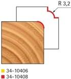 Stopková fréza na dřevo rádiusová vydutá FREUD 3410408 - frézovaný profil