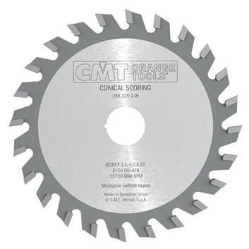 CMT Předřezový kotouč kónický pro CNC stroje D125x4,3-5,5 d45 Z24 HM