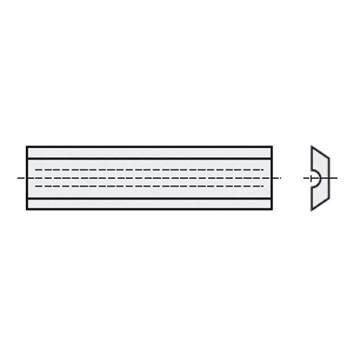IGM Žiletka tvrdokovová typ Leitz - 50x8x1,5mm typ Leitz