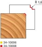 Stopková fréza na dřevo rádiusová vydutá FREUD 3410008 - frézovaný profil