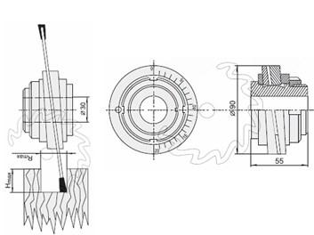 Kolísavé pouzdro PILANA pro SK pilové kotouče drážkovací