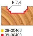 Stopková fréza tvarová bez ložiska FREUD - profil frézování