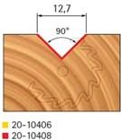 Stopková fréza na dřevo drážkovací V FREUD 2010408 - profil frézování