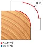 Stopková fréza na dřevo rádiusová vydutá FREUD 3412708 - frézovaný profil
