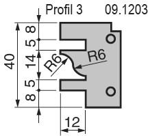 Výměnné břitové destičky pro frézu na nábytkové dveře KARNED 8152/S