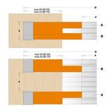 CMT Stavitelná drážkovací fréza 2 dílná - D170x20-39 d40 Z2+2 V2+2