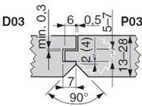 Sada fréz na klasické palubky KARNED D03P03 - nákres