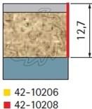 Stopková fréza na dřevo ořezávací FREUD 4210208 - profil frézování