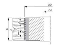 Spárovací fréza VBD KARNED 8340/B 120x50-30 - nákres