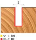 Stopková fréza na dřevo drážkovací FREUD 0411408 - profil frézování