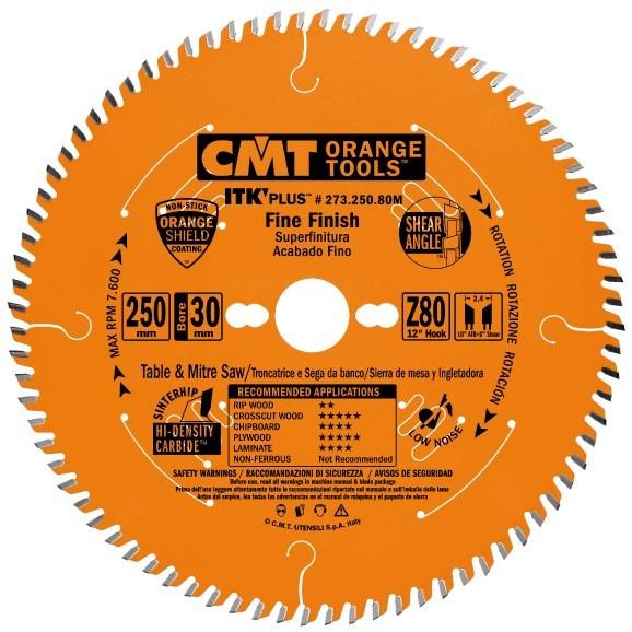 CMT ITK Ultra tenký kotouč pro příčné finální řezy - D250x2,4 d30 Z80 HM
