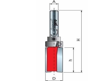 Stopková fréza na dřevo drážkovací FREUD 5010308 D=16,0 h=20,0 A=8
