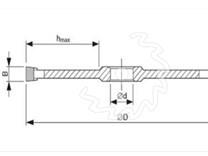 Fréza na dřevo čepovací KARNED 2850 250x30-14 - nákres