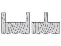 Fréza na dřevo falcovací KARNED 3551 125x30-31 - falc