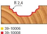 Stopková fréza na dřevo tvarová bez ložiska FREUD 3910008 - profil frézování