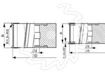 Fréza na dřevo falcovací KARNED 3552 125x40-50 - nákres