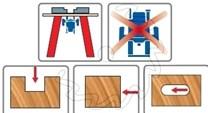 Stopková fréza na dřevo drážkovací FREUD 7610408 - použití