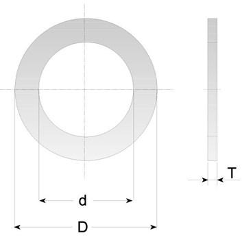 CMT Redukční kroužek pro pilové kotouče - D30 d25 t2,0