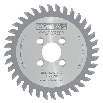 CMT Drážkovací kotouč pro CNC D150x4 d30 Z36 HW