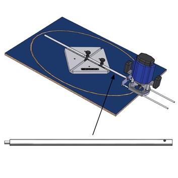 Distanční tyč D16x400mm se šroubem pro FMR3000