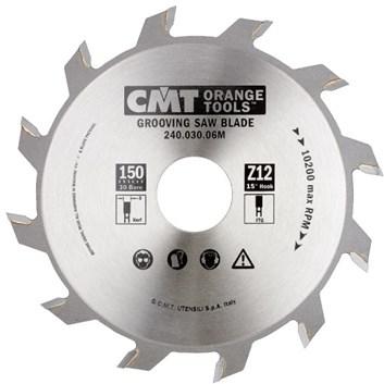 CMT Industrial Drážkovací kotouč - D150x6 d30 Z12 HM